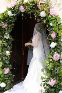 Vintage style wedding arch